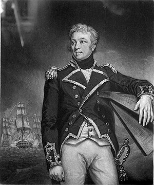 Philip Charles Durham - Philip Charles Durham in the dress uniform of a post-captain of over three years seniority (not a good likeness).  Artist James Northcote