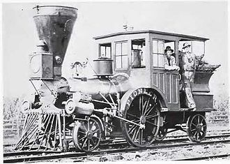 "Cumberland Valley Railroad - The locomotive ""Pioneer"" in service on the CVRR in the 1880s or 1890s"