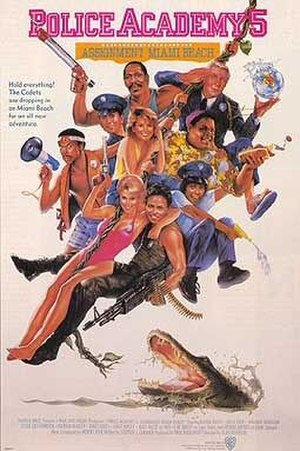 Police Academy 5: Assignment Miami Beach - Theatrical release poster by Drew Struzan