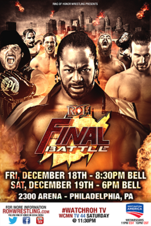 Final Battle (2015) - Promotional poster featuring various ROH wrestlers