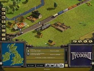 Railroad Tycoon II - Screenshot from Railroad Tycoon II.
