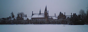 Reading School - A photo of the School, covered in snow, taken on 8 February 2007