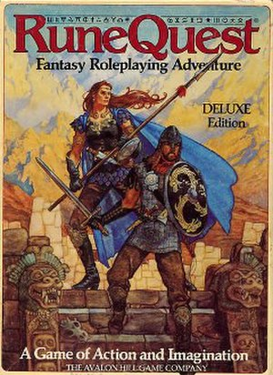 RuneQuest - Image: Rune Quest deluxe 3rd edition boxed set 1984