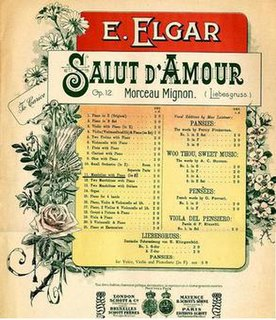 <i>Salut dAmour</i> 1888 musical work composed by Edward Elgar