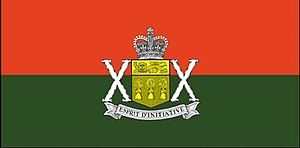 The Saskatchewan Dragoons - The camp flag of The Saskatchewan Dragoons.