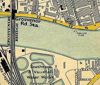 Southwark and Vauxhall Waterworks Company - Southwark and Vauxhall Water Works Reservoirs, Vauxhall, 1897.