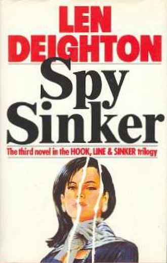 Spy Sinker - First edition cover  (UK, Hutchinson) Cover artist Patrick McCreeth