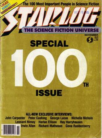 Starlog - Image: Starlog Issue 100