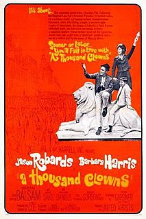 <i>A Thousand Clowns</i> 1965 film adaptation from a 1962 play by Herb Gardner
