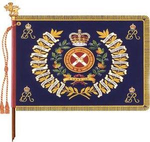 The Toronto Scottish Regiment (Queen Elizabeth The Queen Mother's Own) - The regimental colour of The Toronto Scottish Regiment (Queen Elizabeth The Queen Mother's Own).