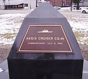 Marker in Vincennes, Indiana