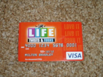 The Game of Life: Twists & Turns - A Visa Game Card.