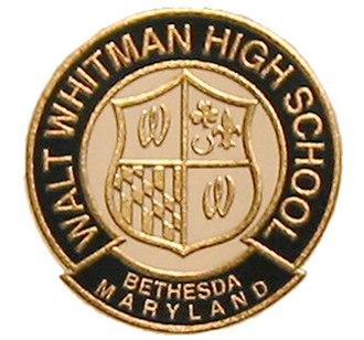 Walt Whitman High School (Maryland) - Image: WW Shield color