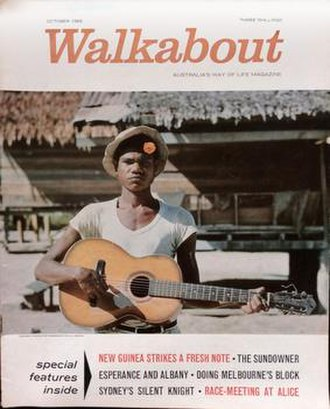 """Walkabout (magazine) - During the 1960s, the magazine and masthead were given a more contemporary design, with the slogan """"Australia's Way of Life Magazine"""""""