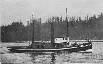Arthur Foss - This early photograph of Wallowa towing is believed to have been taken somewhere in Alaska during the Klondike Gold Rush (1898-1900).