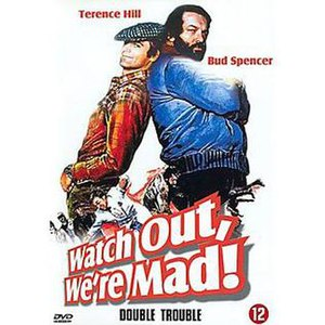Watch Out, We're Mad! - Original DVD cover - Art by Renato Casaro
