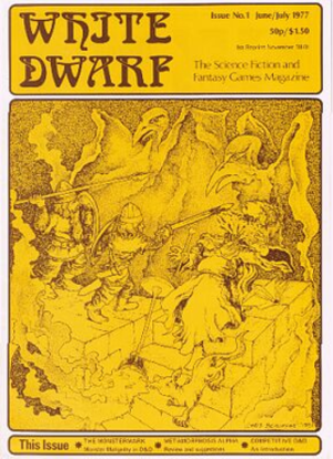 White Dwarf (magazine) - Cover of White Dwarf issue 1, June/July 1977