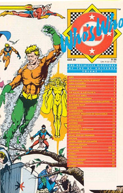 Who/'s Who The Definitive Directory of the DC Universe #11 VG 1986 Stock Image