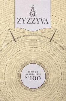 ZYZZYVA magazine cover, Spring & Summer 2014, issue No. 100, designed by Josh Korwin.jpg