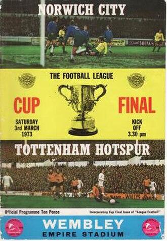 1973 Football League Cup Final - Match programme cover