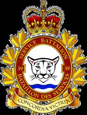 39 Service Battalion - Image: 39 Service Battalion badge