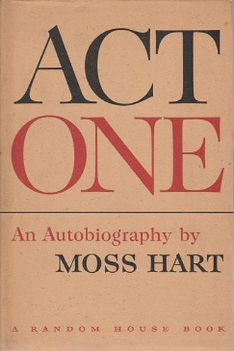 Act One (book) - First edition