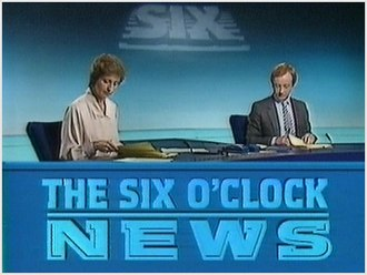 BBC News at Six - A bulletin presented by Sue Lawley and Nicholas Witchell. The bulletin design was in use from 3 September 1984 to 12 April 1993.