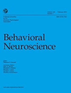 Behavioral Neuroscience (journal) - Image: Behavioral Neuroscience journal cover image