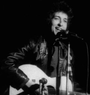 A Photoshop crop of a screenshot of Bob Dylan,...