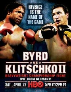 Chris Byrd vs. Wladimir Klitschko II Boxing competition