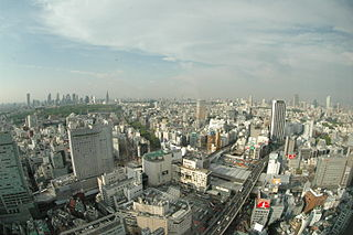 Cerulean Tower building in Shibuya, Tokyo, Japan