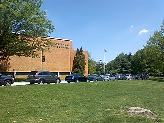 Cheltenham High School - Cheltenham High School from a side view