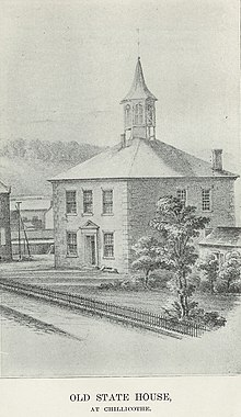 Ohio Statehouse at Chillicothe, 1808