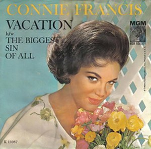 Vacation (Connie Francis song) - Image: Connie Francis Vacation