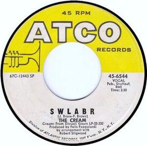 SWLABR - 1967 U.S. 45 single release on ATCO.