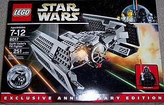 Lego Star Wars - The package for Darth Vader's TIE fighter.