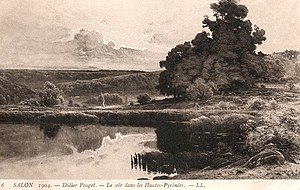 William Didier-Pouget - William Didier-Pouget, Le soir dans les Hautes Pyrénées, Salon 1904, postcard