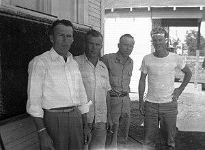 Hollis, Oklahoma - left to right: Glenn, Don, Ray, Darrell Royal - Hollis, OK