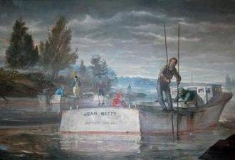 "Earl Hofmann - Earl Hofmann's ""Jean Betty"" in the St. Mary's County Governmental Center, Leonardtown, Maryland"