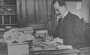 Edward Miner Gallaudet at his desk, presumably...