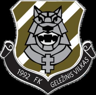 FK Geležinis Vilkas - Image: FK Geležinis Vilkas logo