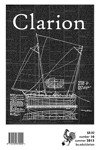 Clarion (magazine) - Image: Front cover of Clarion magazine issue 16, Summer 2013