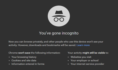 Google Chrome Incognito