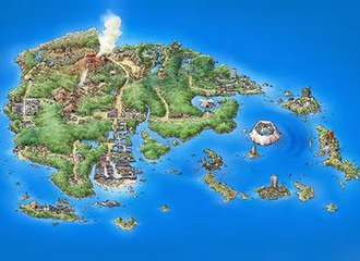 Pokémon Ruby and Sapphire - Ruby and Sapphire are set in the Hoenn region, designed to be similar to Japan's island of Kyushu.