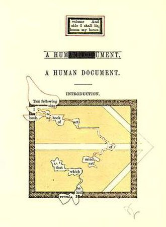 A Humument - First page of A Humument, 1970 edition