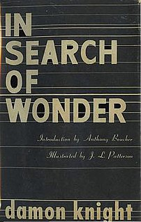 <i>In Search of Wonder</i> book by Damon Knight