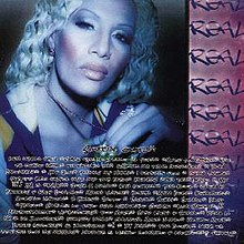 Album cover, featuring dark-skinned woman with light hair