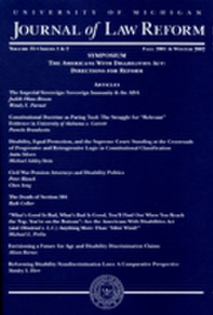 University of Michigan Journal of Law Reform - Image: JLR cover