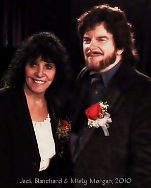 Jack Blanchard & Misty Morgan - Jack Blanchard and Misty Morgan in 2010 at their induction into The Buffalo Music Hall of Fame.