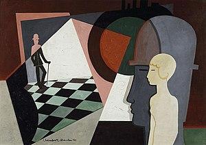 Jean Lambert-Rucki - Jean Lambert-Rucki, 1919, La Visite, 65 x 92 cm, Musée des Années 30, Boulogne-Billancourt, Dépôt du Centre Georges Pompidou, MNAM, Paris
